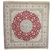 Link to 12' 7 x 12' 8 Nain Persian Square Rug