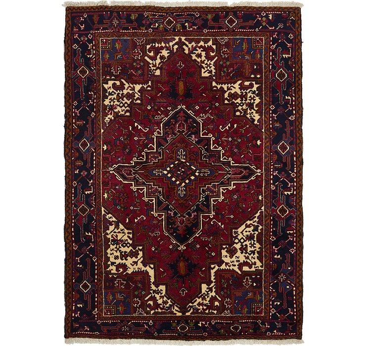 7' x 9' 9 Heriz Persian Rug