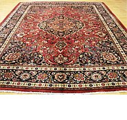 Link to 9' 9 x 12' Mashad Persian Rug