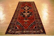 Link to 4' 6 x 10' 1 Hamedan Persian Runner Rug