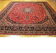 Link to 9' 10 x 13' 1 Kashmar Persian Rug