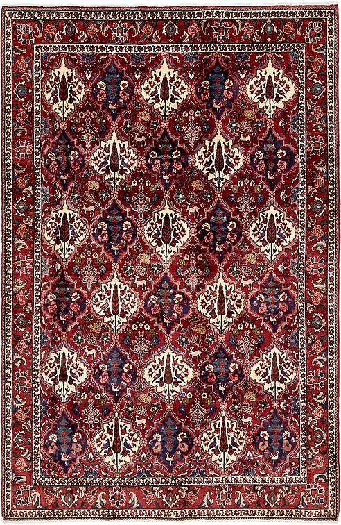 Red 6 7 X 10 4 Bakhtiar Persian Rug Persian Rugs