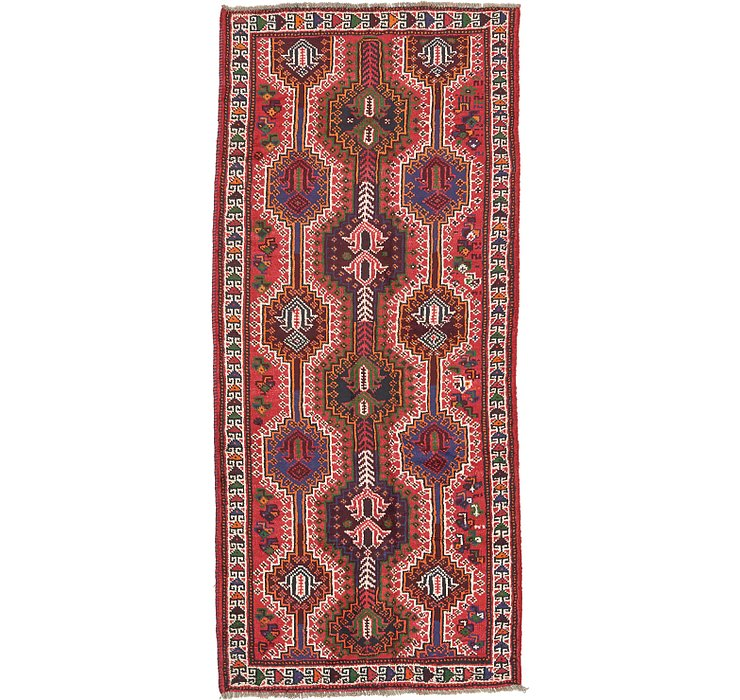 4' 1 x 9' 2 Shiraz Persian Runner Rug