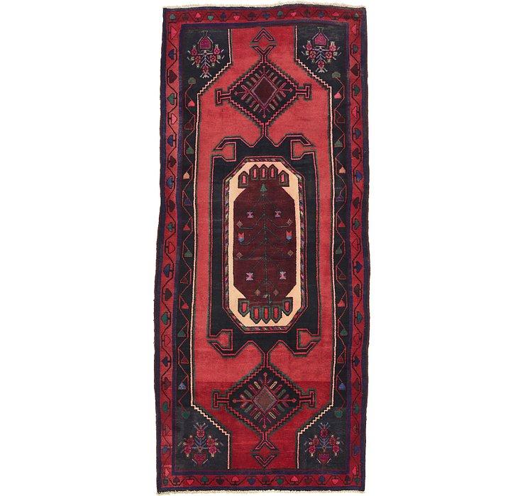 4' 5 x 10' Zanjan Persian Runner Rug