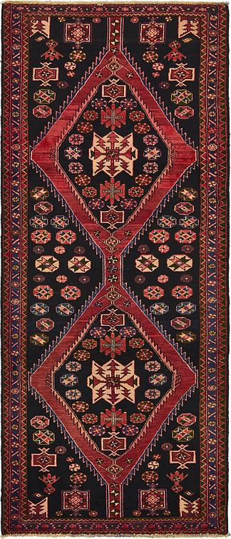 Black 4 X 9 5 Saveh Persian Runner Rug Persian Rugs