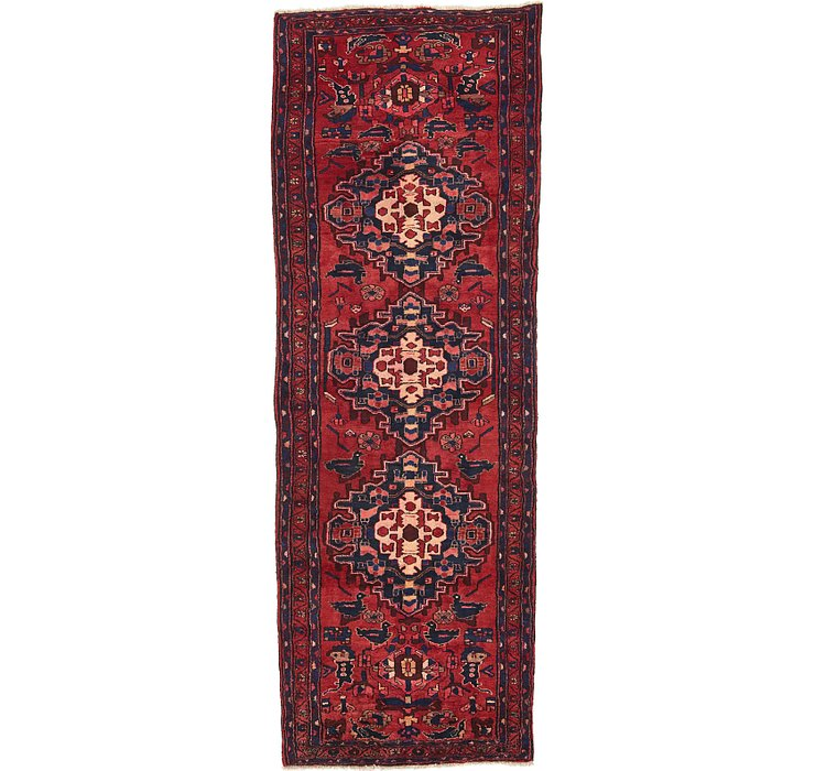 3' 9 x 10' 5 Khamseh Persian Runner ...