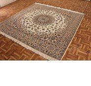 Link to 6' 7 x 6' 9 Nain Persian Square Rug