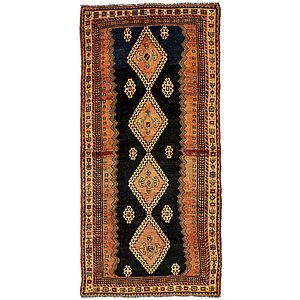 4' 7 x 10' Shiraz Persian Runner Rug