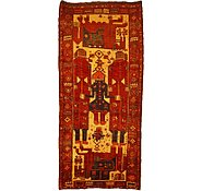 Link to 4' 9 x 10' 6 Kurdish Berber Persian Runner Rug