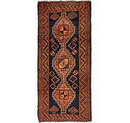 Link to 4' 7 x 9' 10 Kurdish Berber Persian Runner Rug