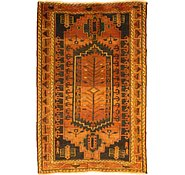 Link to 4' 7 x 7' Kurdish Berber Persian Rug