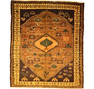 Link to 5' 3 x 6' 4 Kurdish Berber Persian Square Rug