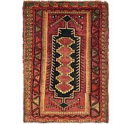 Link to 4' 7 x 6' 4 Kurdish Berber Persian Rug
