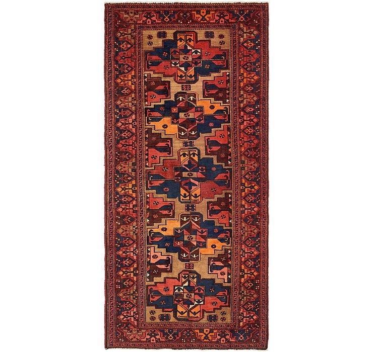 4' 3 x 9' 7 Zanjan Persian Runner Rug