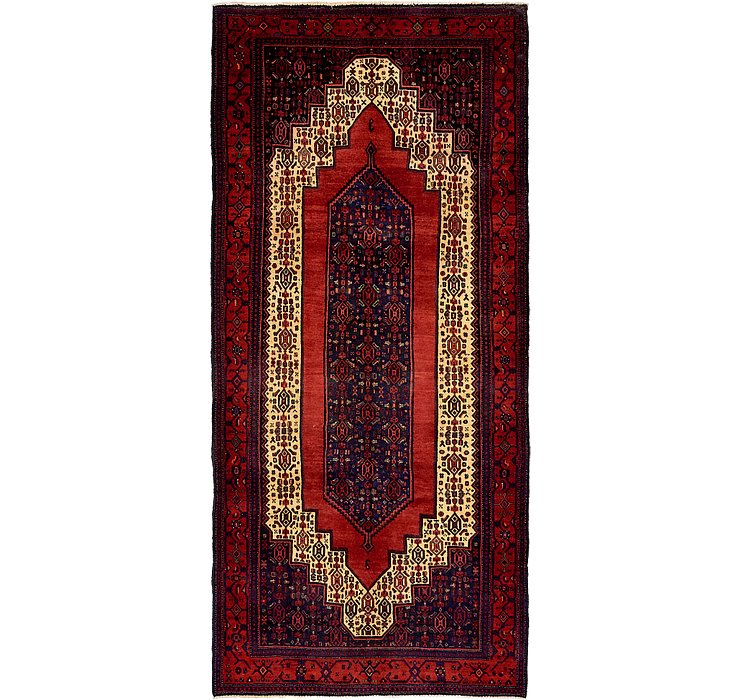 4' 11 x 10' 10 Sanandaj Persian Runner...