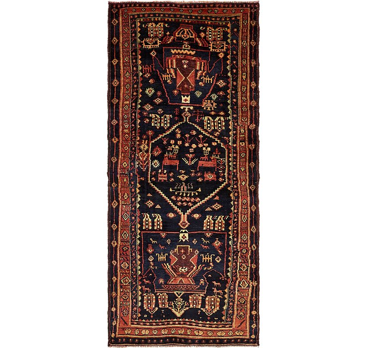 4' 5 x 10' 7 Shiraz Persian Runner Rug