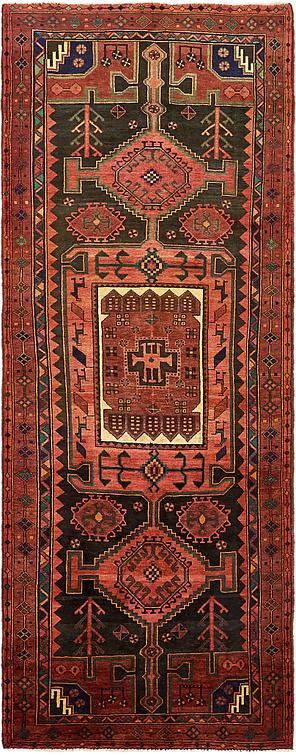 Red 4 X 10 8 Koliaei Persian Runner Rug Persian Rugs