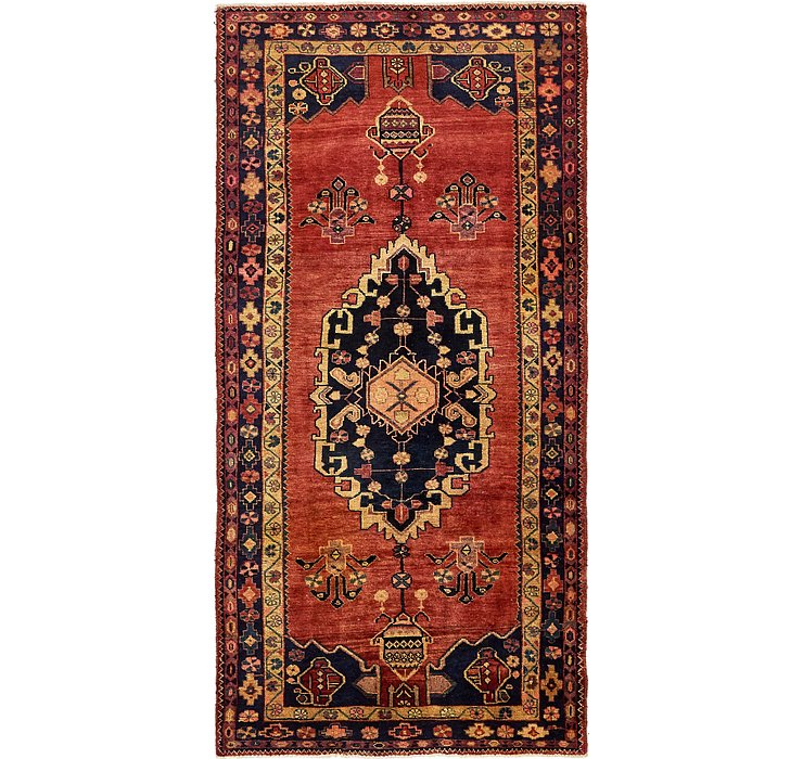 4' 9 x 9' 9 Khamseh Persian Runner ...