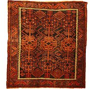 Link to 5' 4 x 5' 10 Shiraz-Lori Persian Square Rug