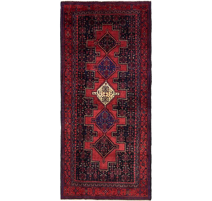 5' x 11' 6 Sanandaj Persian Runner...