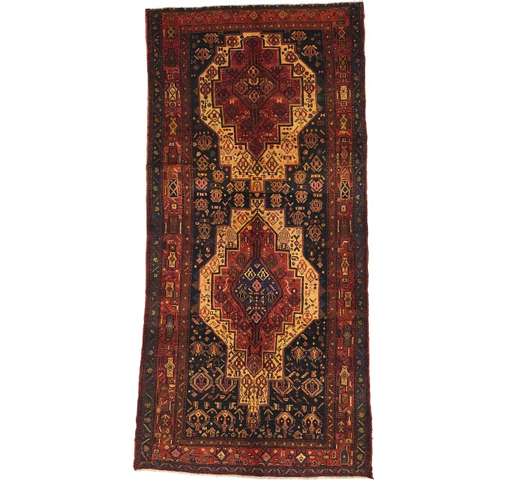 5' 3 x 11' 2 Sanandaj Persian Runner...