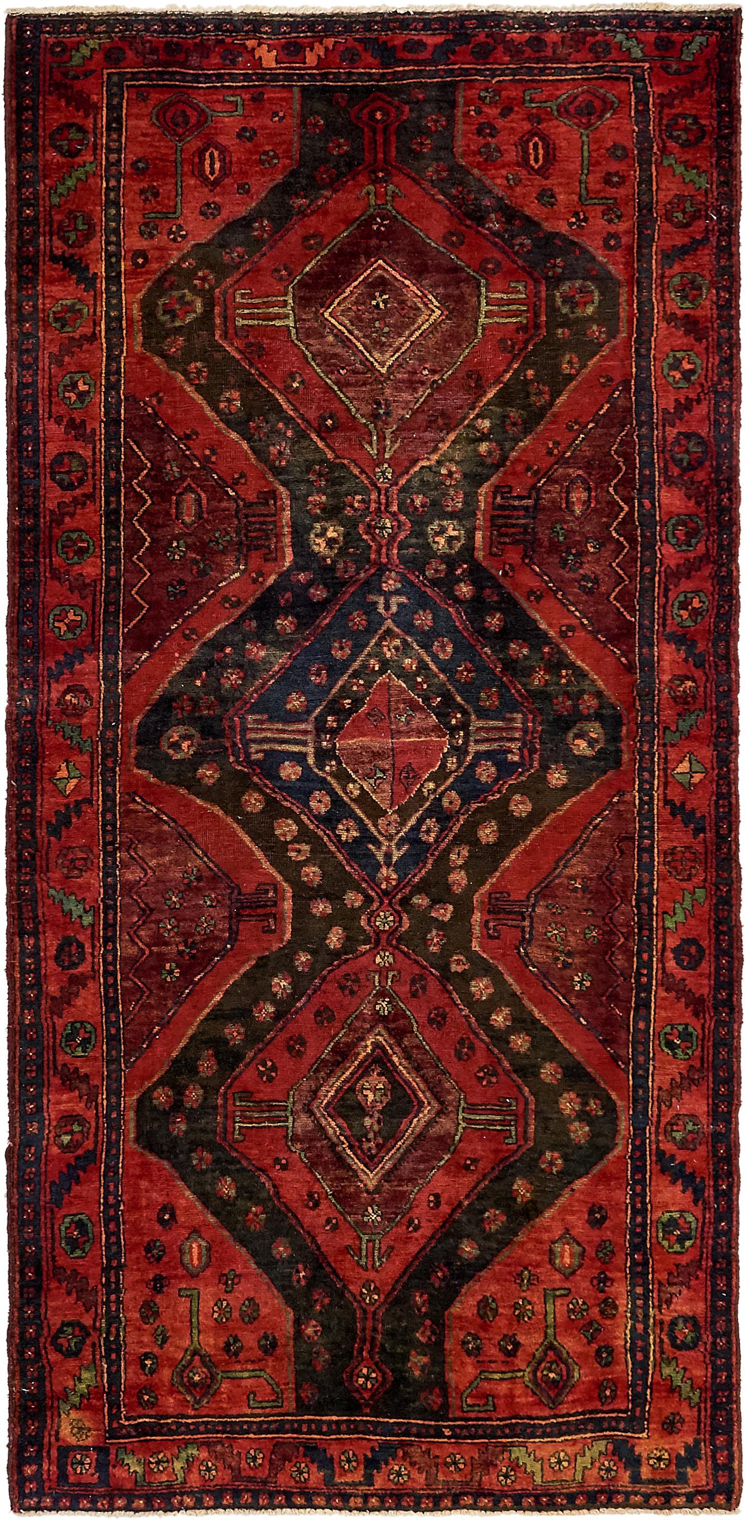 Red 3 10 X 8 1 Sirjan Persian Runner Rug Esalerugs