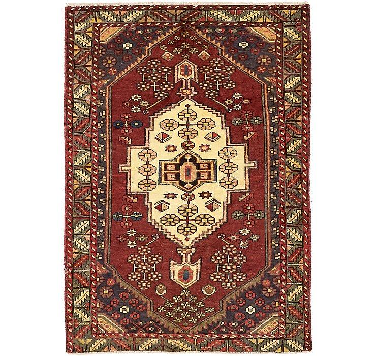 4' 4 x 6' 4 Mazlaghan Persian Rug