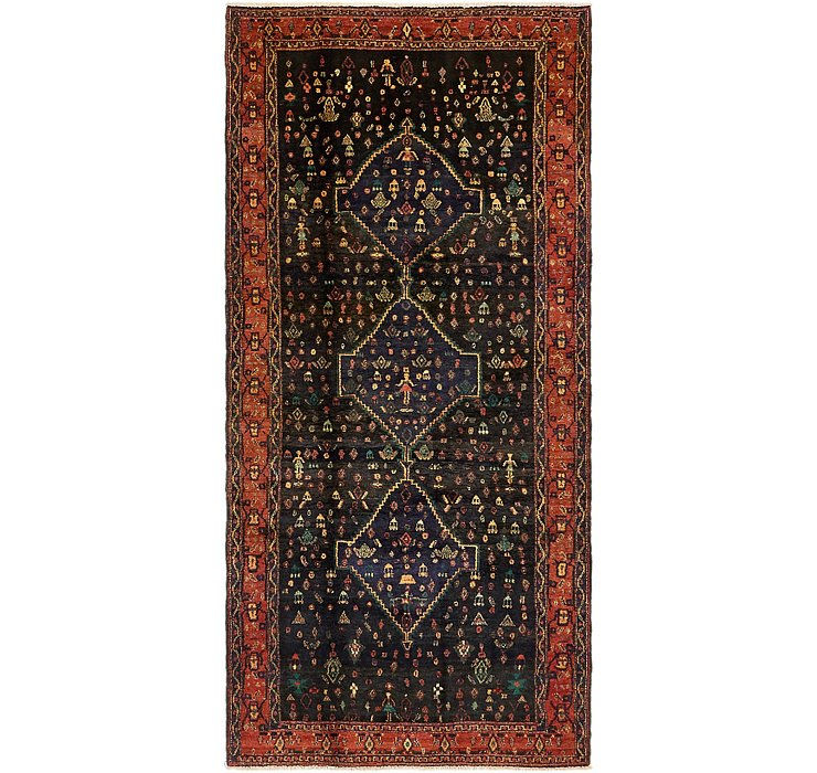 4' 2 x 8' 10 Sanandaj Persian Runner...
