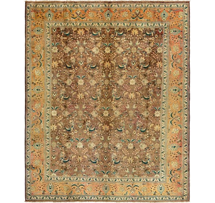 9' 8 x 12' 3 Tabriz Persian Rug
