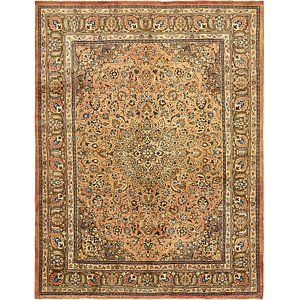 9' 11 x 13' Mashad Persian Rug