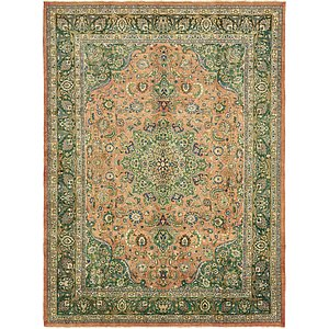 9x12 Orange Persian & Oriental  Rugs
