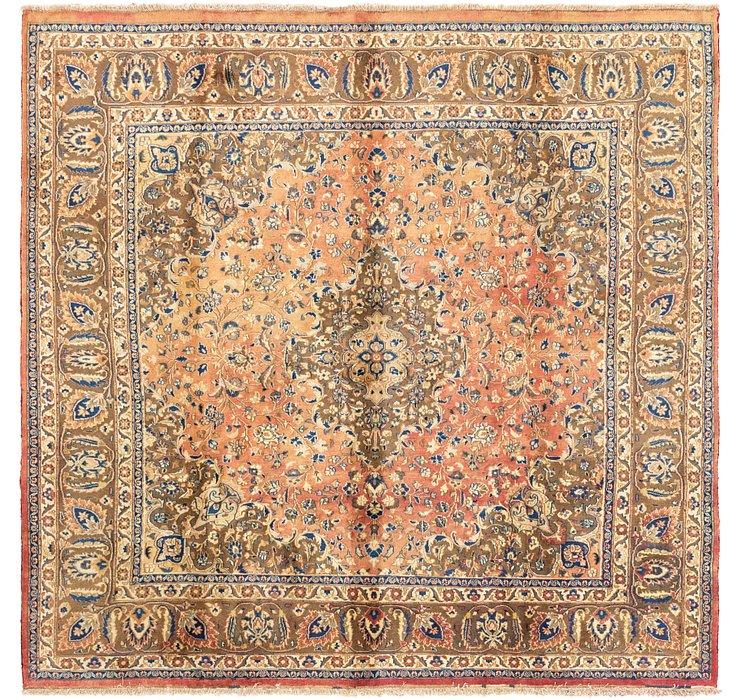 9' 6 x 9' 6 Mashad Persian Square Rug