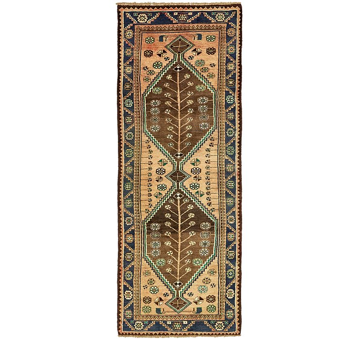 3' 3 x 9' 6 Khamseh Persian Runner ...