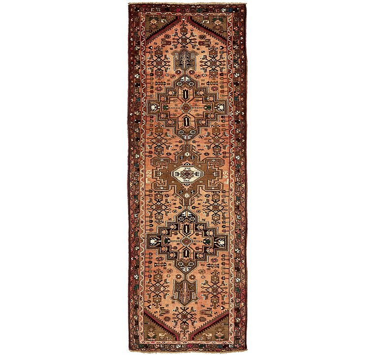 102cm x 310cm Zanjan Persian Runner Rug