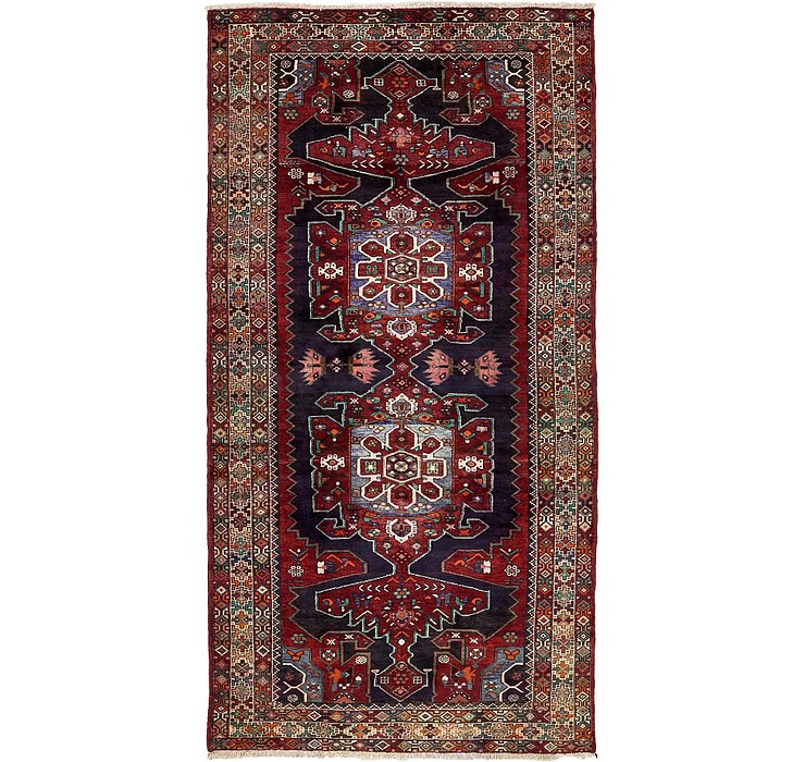 4' 10 x 10' Saveh Persian Runner Rug