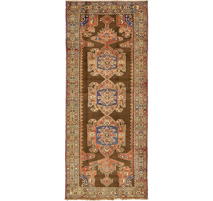 4' 11 x 12' Saveh Persian Runner Rug