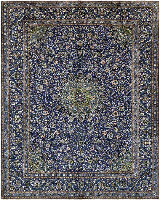 Navy Blue 9' 8 X 12' 4 Kashmar Persian Rug