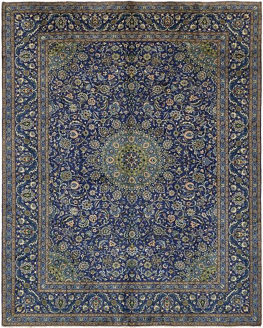 Persian Rugs Australia: Navy Blue 295cm X 375cm Kashmar Persian Rug