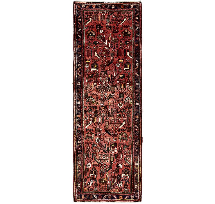 3' 1 x 9' 3 Roodbar Persian Runner ...