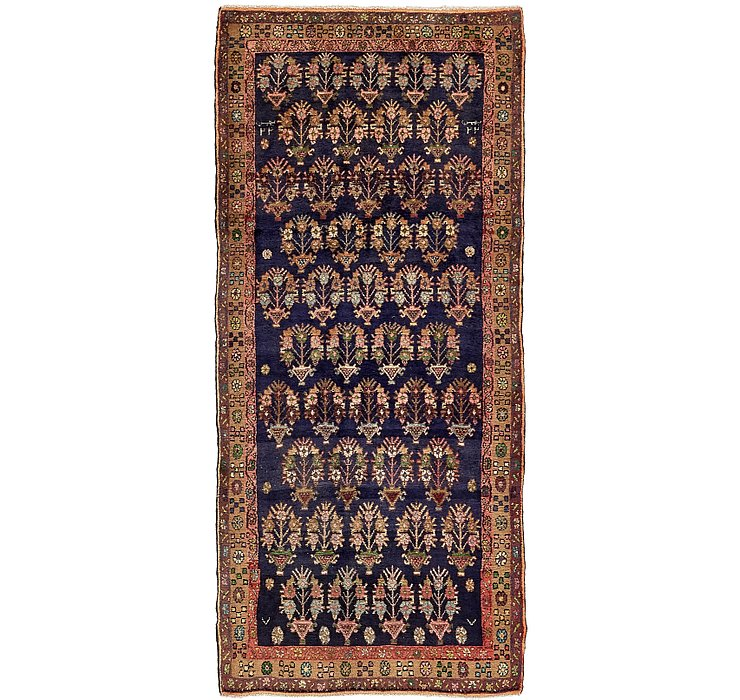 4' x 8' 9 Khamseh Persian Runner ...