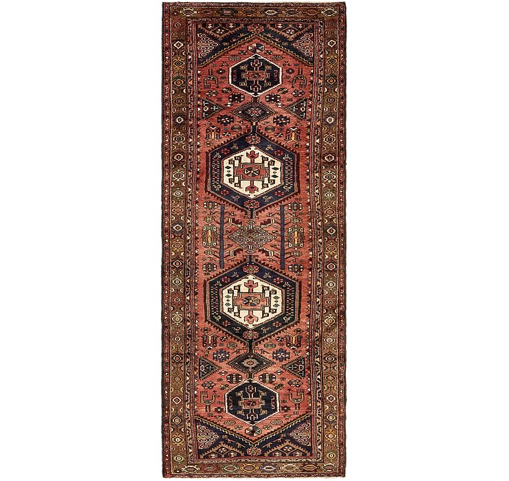 3' 9 x 10' 6 Khamseh Persian Runner ...