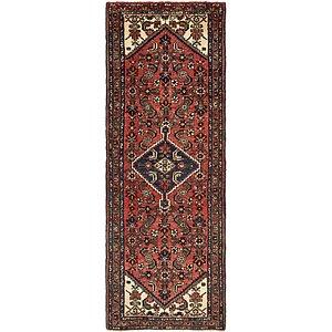 Unique Loom 3' 4 x 9' 7 Hossainabad Persian Run...