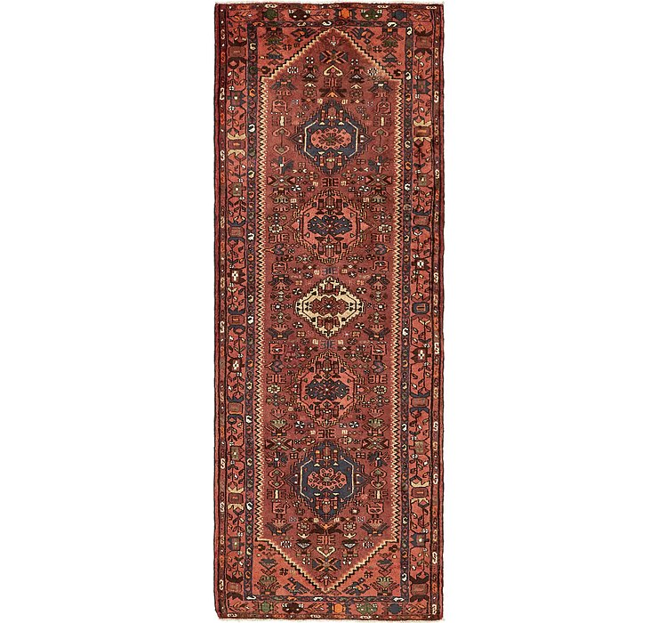 3' 6 x 9' 6 Khamseh Persian Runner ...