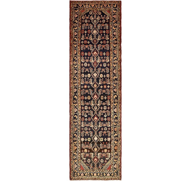 3' 9 x 13' 4 Khamseh Persian Runner ...