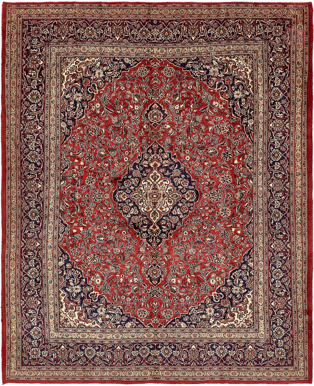 Red 9 10 X 12 4 Mashad Persian Rug Persian Rugs Handknotted Com