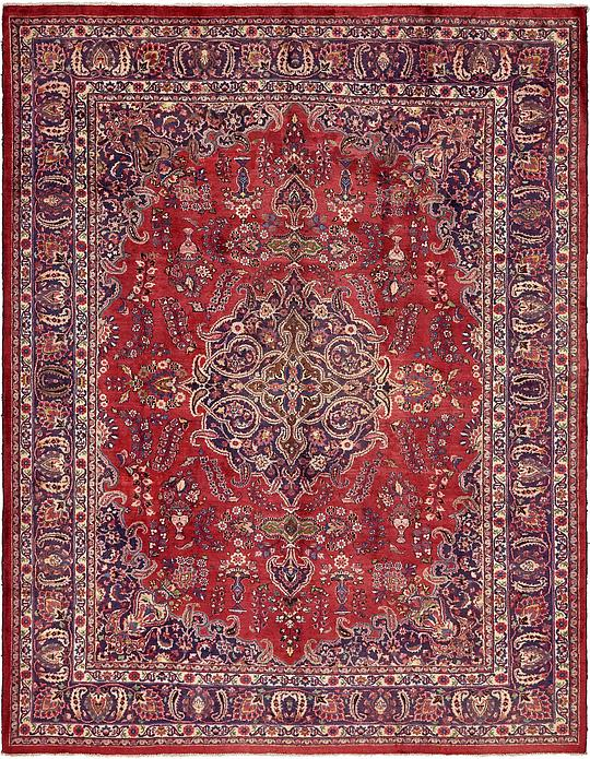 Red 10 X 12 8 Mashad Persian Rug Persian Rugs Irugs Uk