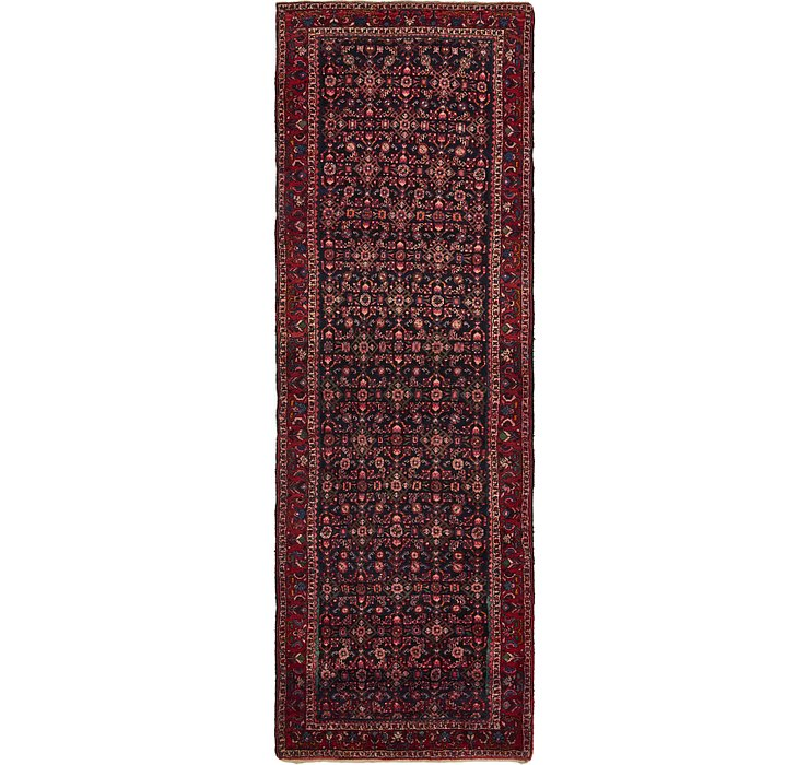 3' 8 x 11' 3 Khamseh Persian Runner ...