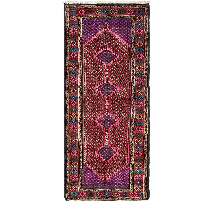 4' x 9' 4 Hamedan Persian Runner ...