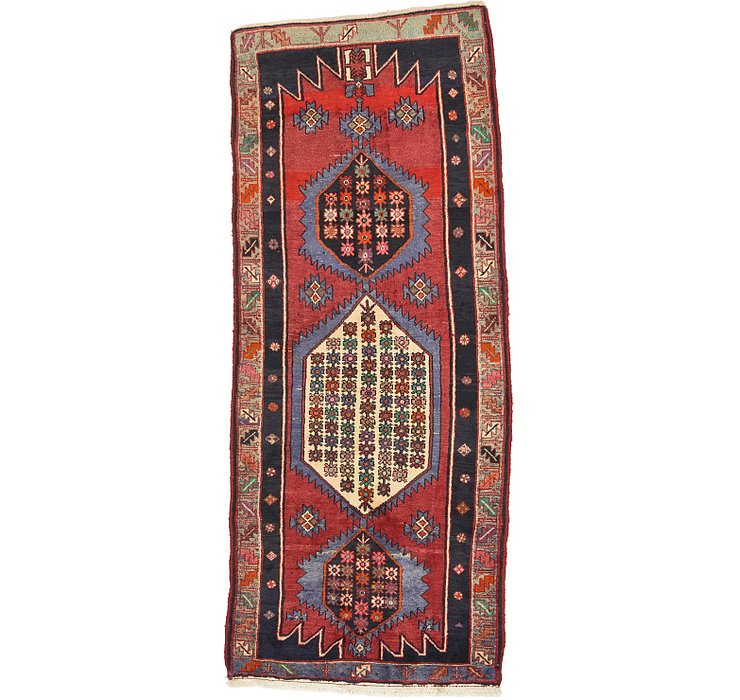 3' 9 x 9' Hamedan Persian Runner ...