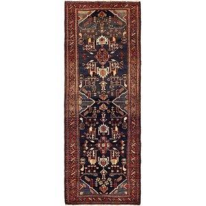 HandKnotted 3' 6 x 9' 8 Khamseh Persian Runner ...